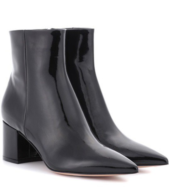 Gianvito Rossi leather ankle boots ankle boots leather black shoes