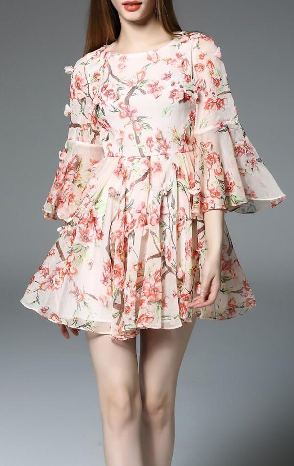 dress floral summer fashion style spring summer dress trendy dezzal