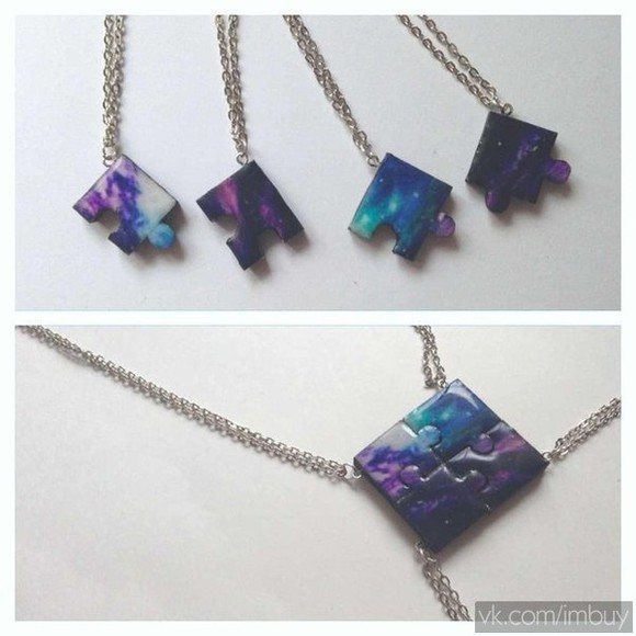 galaxy jewels galaxy print neckace