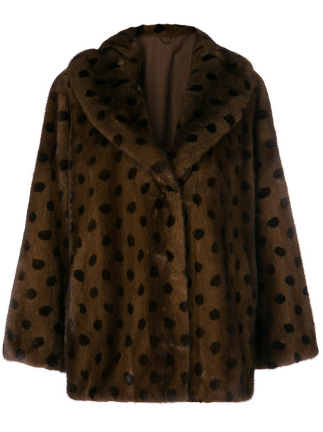 Liska jacket fur jacket fur women silk brown