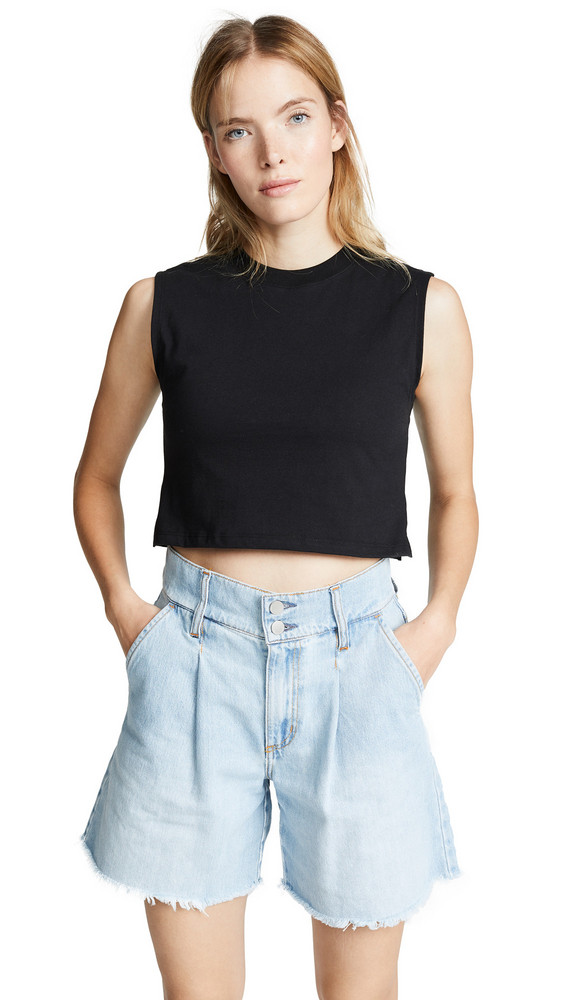 Hanes x Karla The Sleeveless Crop Tee in black