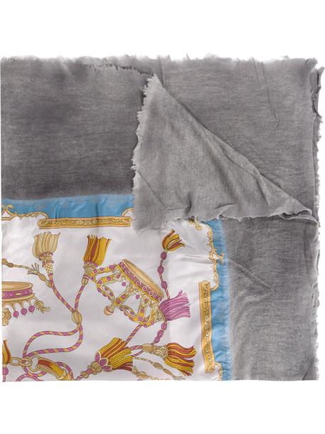 AVANT TOI printed scarf women scarf grey