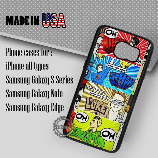 Samsung S7 Case - Seconds Of Summer Comic - iPhone Case #SamsungS7Case #5SecondsOfSummer #yn