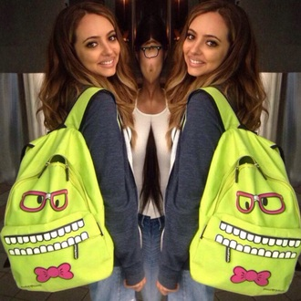 bag little mix jade thirlwall backpack green nerd hoodie american apparel jacket