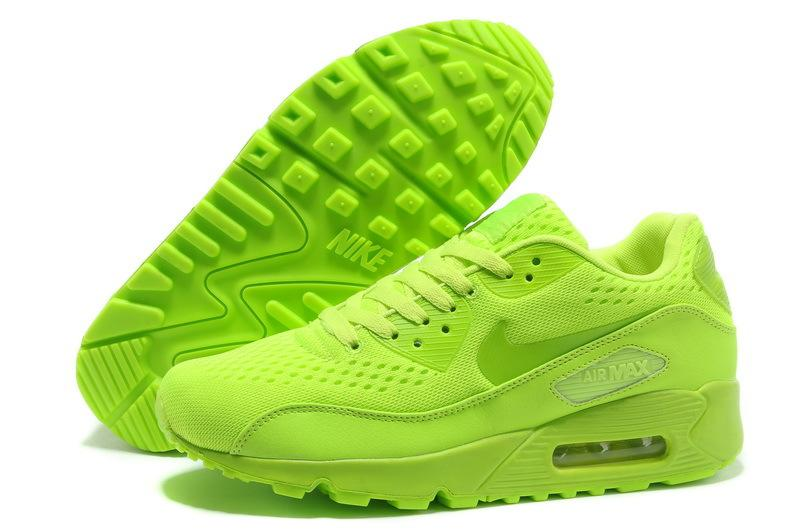 Buy Authentic Nike Air Max 90 Premium Men's Shoes Neon Green Shoes-Cheap Real Nike Air Max 90 Men For Sale