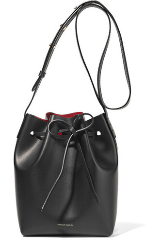 mini bag bucket bag leather black