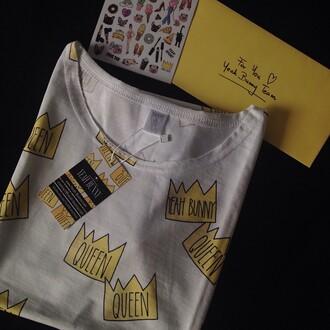t-shirt yeah bunny queen tumblr