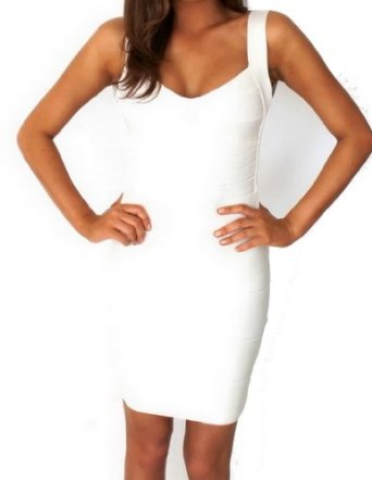 Backless bandage dress white