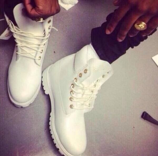 shoes white timberlands