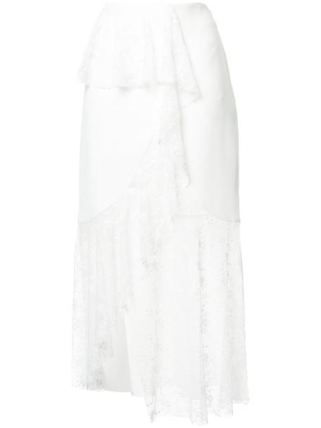 GOEN.J skirt women lace white cotton