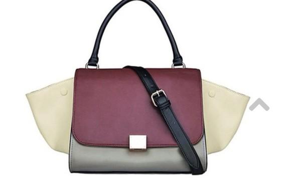 grey bag red