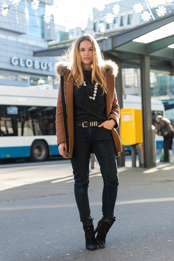 fashion gamble jacket jeans sweater shoes belt jewels