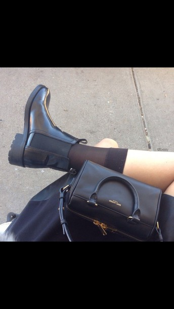 socks handbag chelsea boots saint laurent