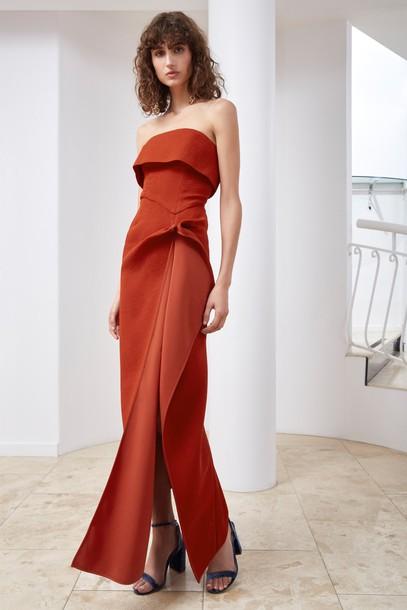 C/MEO COLLECTIVE dress maxi dress maxi red