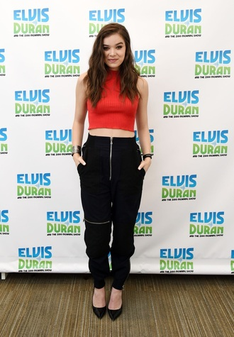 pants black hailee steinfeld zipped pants zip