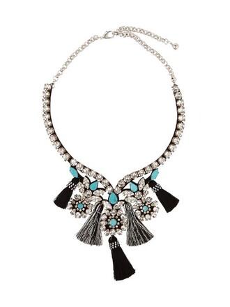 necklace blue black jewels