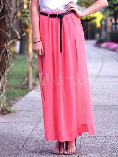 Chic Chiffon Ankle Length Women's Skirt - Milanoo.com