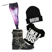 leggings,beenie,shirt,shoes,hat,like a boss
