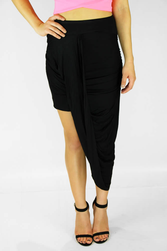 Aruba Wrap Skirt - Black : Current Fashion Trends & Styles