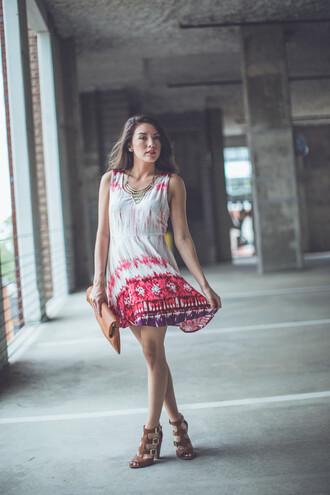 dress formal red aztec boho indie chic music festival bold entourage tie dye music festivals