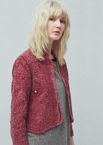 jacket embroidered rose