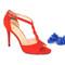 Beautiful heels - red suede heeled sandals