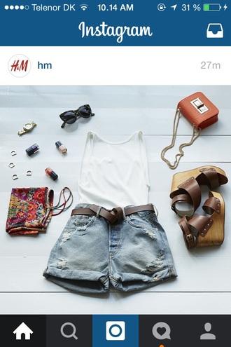 shorts hipster denim shorts wedges