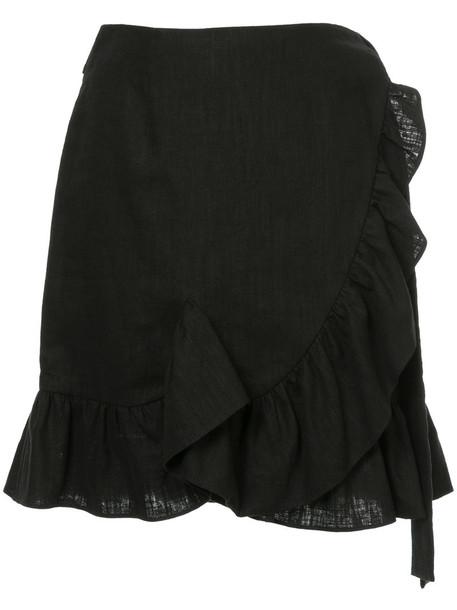 GOEN.J skirt wrap skirt ruffle women black