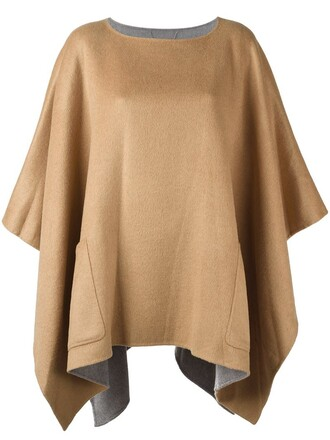 poncho nude top