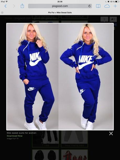 buy online 12d46 381b8 blue nike sweatsuit jumpsuit