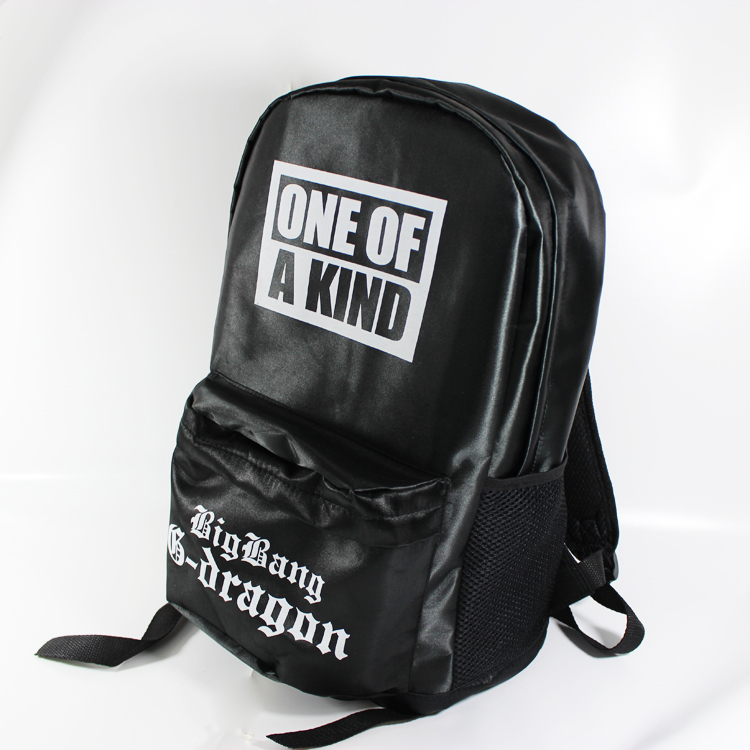 Korea   Black BigBang Big Bang G dragon  GD  Punk Rock Flora Skull Backpack Schoolbag Bag one of a kind-in Backpacks from Luggage & Bags on Aliexpress.com