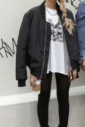 jacket,black,bomber jacket,tumblr
