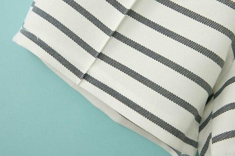 Newfashioned Casual Striped Cotton Shorts [SHWM00197] - PersunMall.com