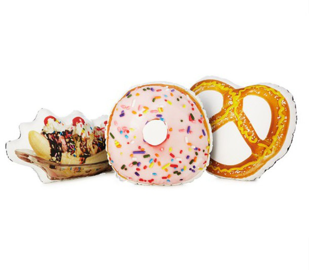 home accessory ice cream pretzel food pillow donut