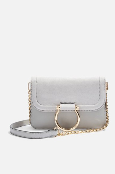 Topshop cross new bag grey