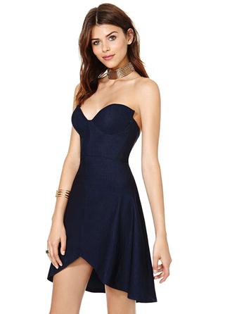 dress bqueen fashion girl sexy elegant party cool chic bodycon evening dress clubwear dark blue swallow tail straps