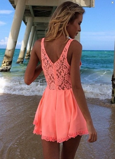 hollow chiffon dress lace dress lace playsuit  · favor · Online Store Powered by Storenvy