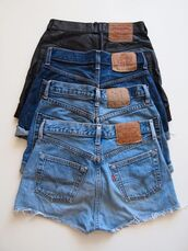 shorts,High waisted shorts,denim,clothes,brands,jeans,short,blue,leather,tumblr,fashion,beautiful,summer,pockets,cut off shorts,hipster,vintage,style