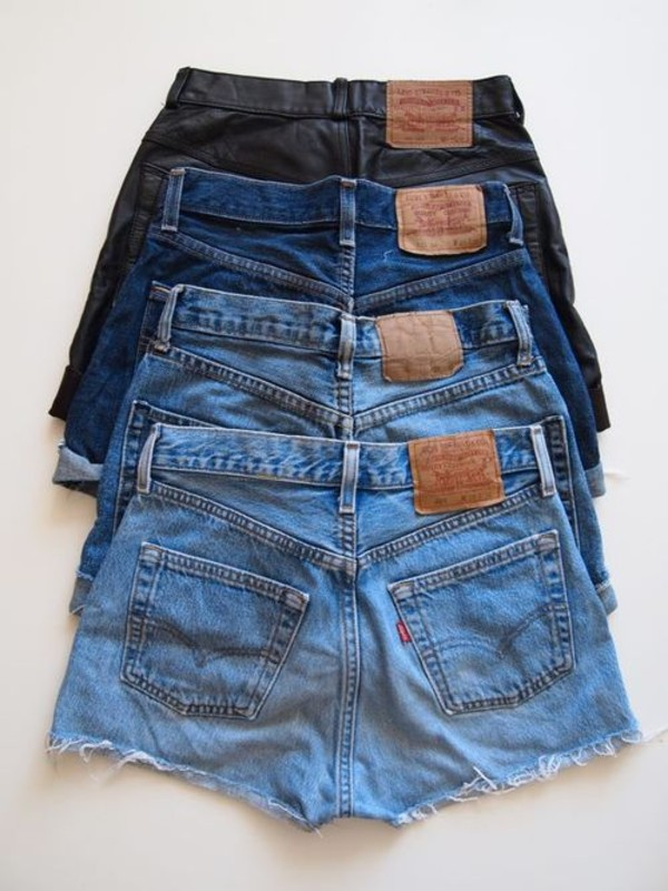 shorts High waisted shorts denim clothes brands jeans short blue leather tumblr fashion beautiful summer pockets cut off shorts hipster vintage style