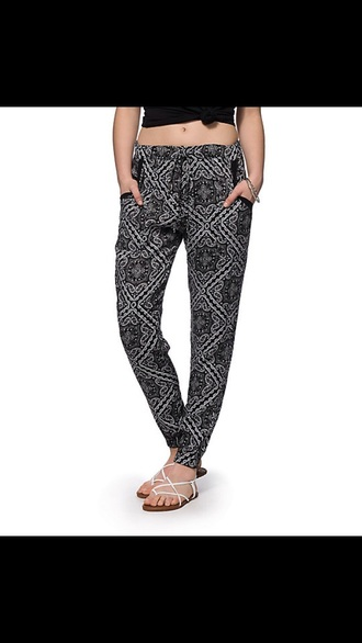 pants printed joggers black printed pants joggers black and white printed pants
