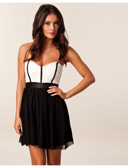 party black and white black and white dress dress