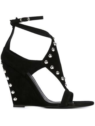 sandals wedge sandals black shoes