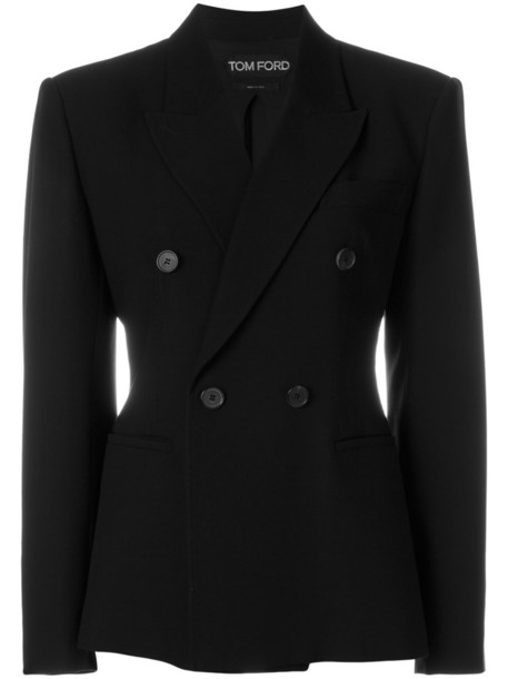 Tom Ford blazer women fit black silk wool jacket