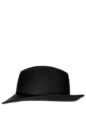 Asymmetric Brim Fedora Hat - Hats - Bags & Accessories - Topshop