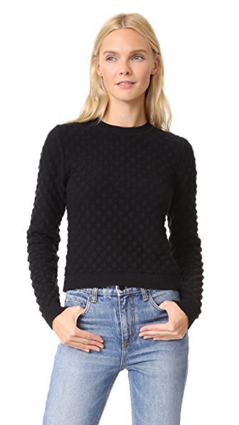 Versus sweater cropped sweater cropped black