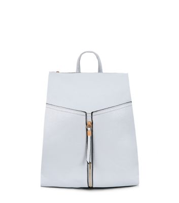 Pale Blue Formal Zip Front Backpack