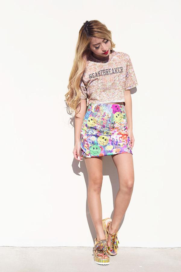 style2bones skirt t-shirt