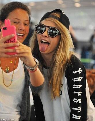 shirt sunglasses cara style cara delevingne trapstar streetwear