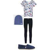 top,damon fizzy,t-shirt,blue and white