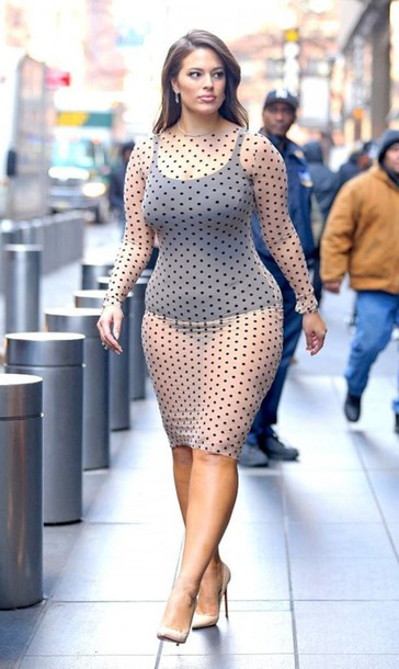 dress, polka dots, see through, see through dress, ashley ...
